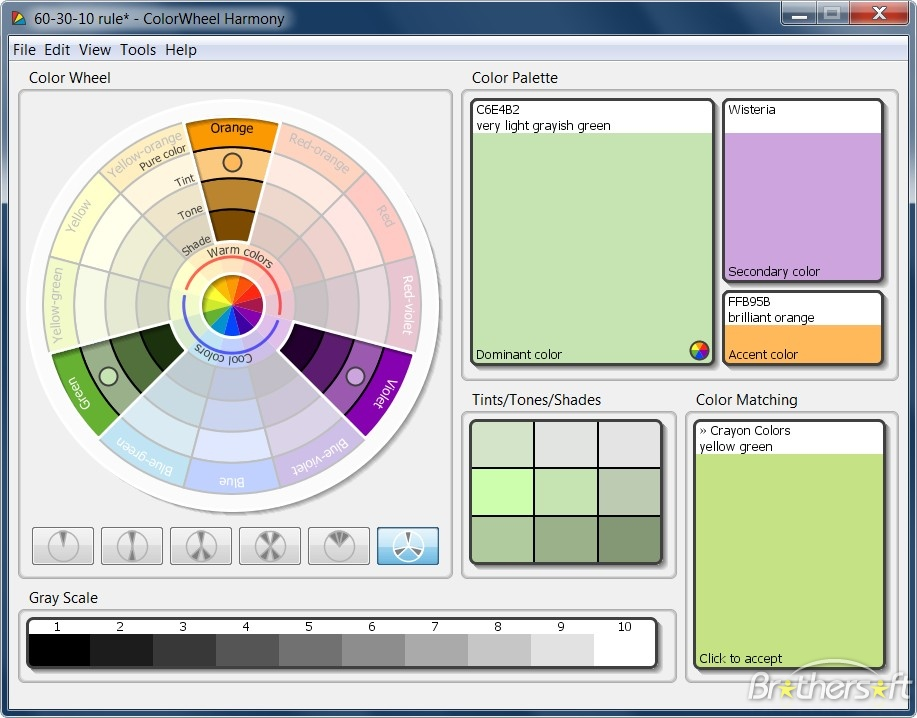 Программа ColorWheel Harmony 2.2